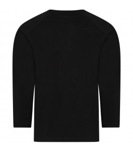 Black t-shirt for kids with bears