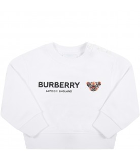 White sweatshirt for baby kids with iconic bear