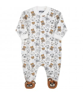White babygrow for baby kids with teddy bears