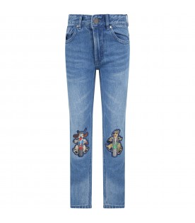 Blue jeans for boy witth dogs