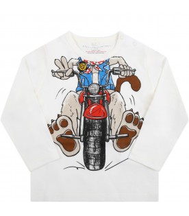 Ivory t-shirt for baby boy with dog