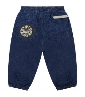 Blue jeans for baby boy with dog