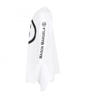 White dress for girl with double logo
