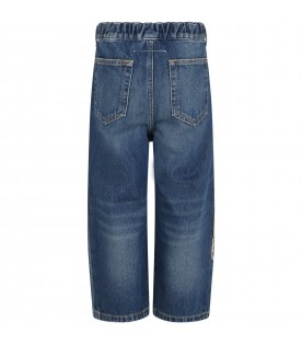 Light blue jeans for girl with patch