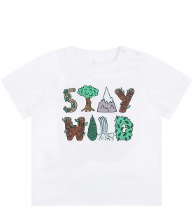 White t-shirt for baby with writing