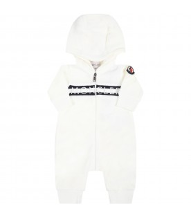 Ivory babygrow for baby kids with logo