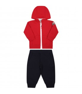 Multicolor tracksuit for baby boy with iconic patch