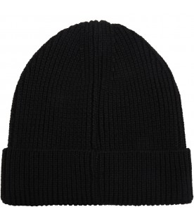 Black hat for kids with cross