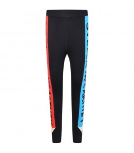 Black leggings for kids with pencil