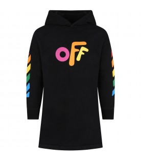 Black dress for girl with Off logo