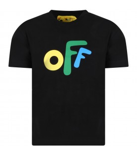 Black T-shirt for kids with iconic arrows