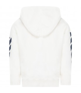 White sweatshirt for kids with Off logo