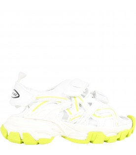 White sandals Track Clear Sole for kids with logo