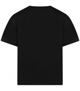 Black T-shirt for girl with Top Model writing