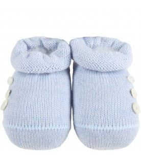 Light-blue baby-bootee for baby boy