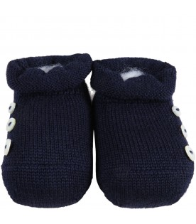 Blue baby-bootee for baby boy
