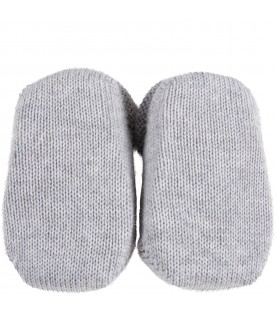Gray baby-bootee for baby boy