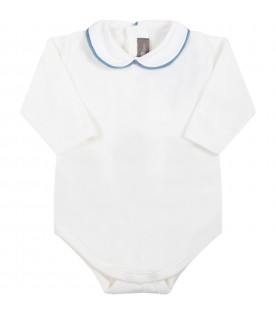White body for baby boy with light blue profile