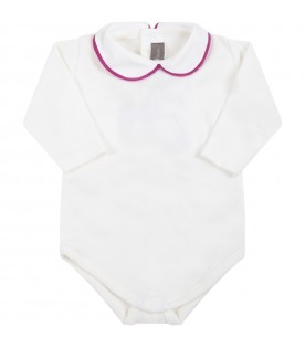 White body for baby girl with purple profile