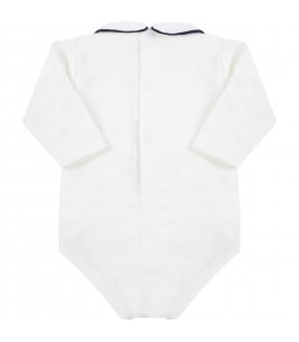 White body for baby boy with blue profile