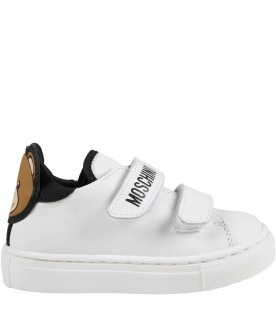 White sneakers for baby kids