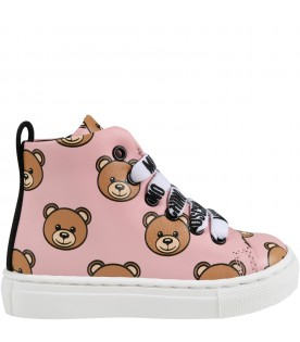 Pink sneakers for baby girl