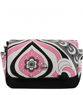 Multicolor changing bag for baby girl