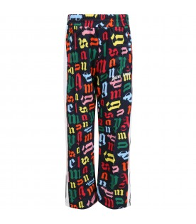 Black sweatpant for boy with logos