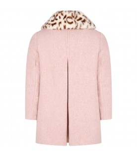 Pink coat for girl