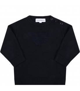 Blue sweater for baby boy with eagle