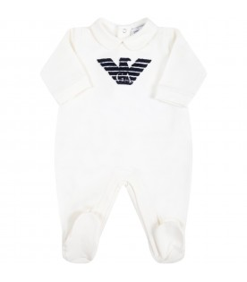 White babygrow for baby boy with eagle