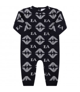 Blue babygrow for baby boy with eagles