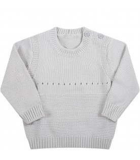 Grey sweater for baby kids with dalmatian
