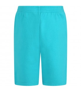 Turquoise short for kids with logo