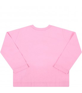 Pink t-shirt for baby girl with logo