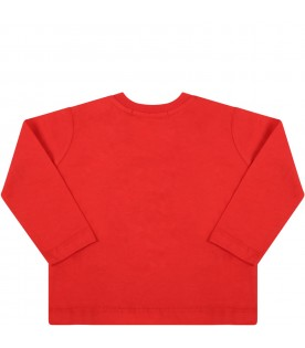 Red t-shirt for baby kids with logo