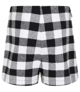 Multicolor shorts for girl with bow
