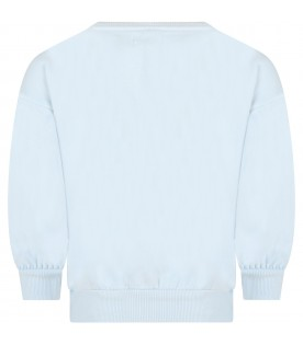 Light blue sweatshirt for kids with cup