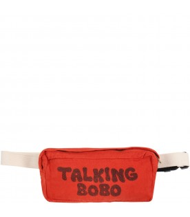 Red bag for kids with black logo