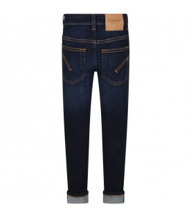 Blue ''Ritchie'' jeans for boy with iconic D