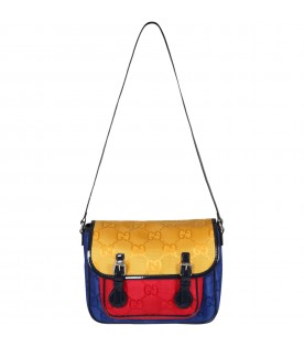 Multicolor bag for girl with double GG
