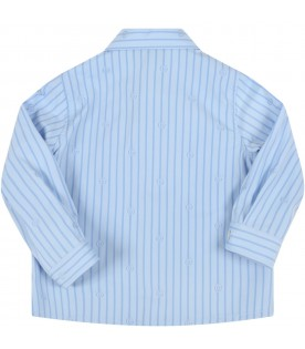 Light blue shirt for baby kids with double GG