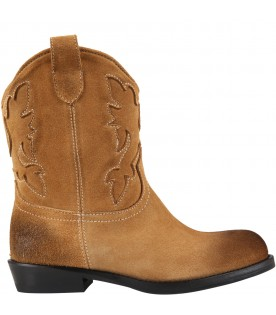 Beige boots for kids