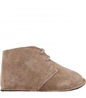 Beige shoes for baby boy