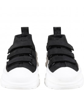 Black sneakers for kids with logo