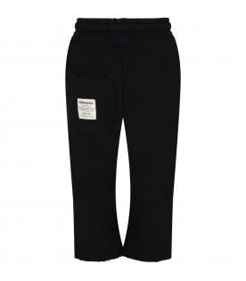 Black sweatpant for kids with skull