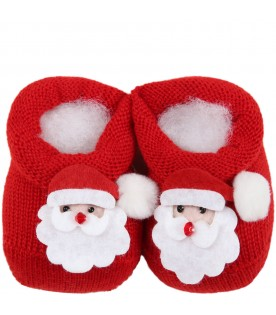 Red set for babykids with Santa Claus