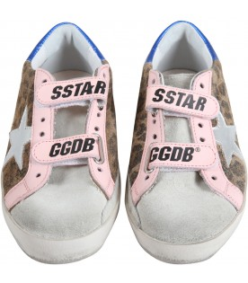 White ''May'' sneakers for girl