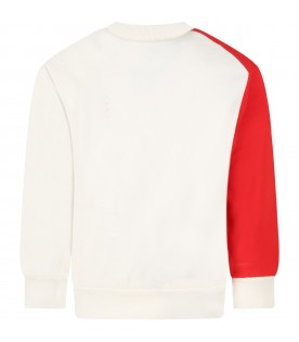 Multicolor sweatshirt for kids with logos
