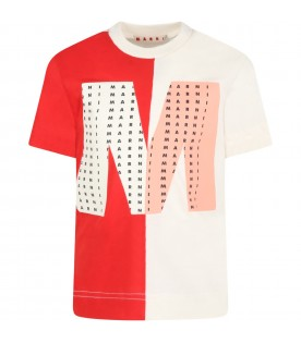 Multicolor t-shirt for kids with logos
